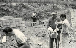 Construction of original fire station
